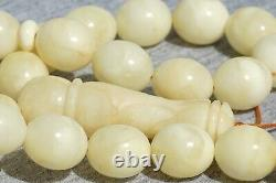 High quality rare Baltic amber pressed Rosary necklace 38 g FEDEX FAST SHIPPING