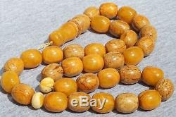 High quality rare Baltic amber pressed Rosary necklace 78 g. FEDEX FAST SHIPPING