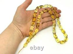 Islamic 33 Prayer Beads Barrel INSECT EVERY BEAD Baltic Amber Tasbih 43,4g 15209