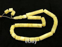 Islamic 33 Prayer Beads NATURAL BALTIC AMBER Barrel Tasbih Misbaha 18g 12171