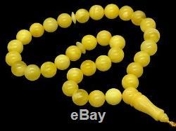 Islamic 33 Prayer Beads NATURAL BALTIC AMBER Rosary Tasbih Misbaha 16g 10784