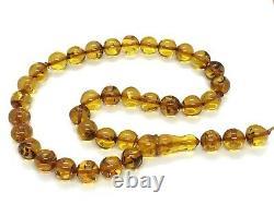 Islamic 33 Prayer Beads NATURAL BALTIC AMBER Tasbih Misbaha Rosary 32g 12130