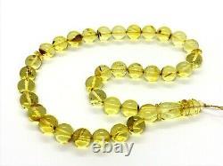 Islamic 33 Prayer Beads NATURAL BALTIC AMBER Tasbih Rosary Misbaha 30g 12161