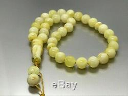 Islamic 33 Prayer Beads Natural Baltic Amber Rosary Tasbih Misbaha 16,1g 8081