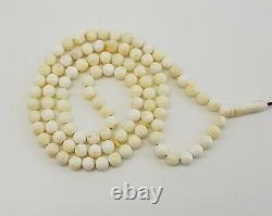Islamic Prayer Tasbih Stone Amber Natural Baltic Vintage Bead 14,7g Old R-967