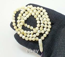 Islamic Prayer Tasbih Stone Amber Natural Baltic Vintage Bead 15,6g Old S-607