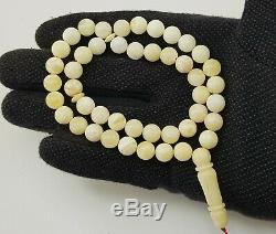 Islamic Prayer Tasbih Stone Amber Natural Baltic Vintage Bead 20,1g Old R-014