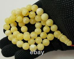 Islamic Prayer Tasbih Stone Amber Natural Baltic Vintage Bead 41,8g Old S-415