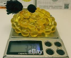 Islamic Prayer Tasbih Stone Natural Amber Baltic KEHRIBAR 32,8g Egg Yolk K-102