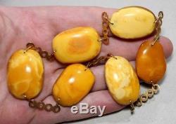 K Natural Genuine Butterscotch Egg Yolk Baltic Amber Necklace