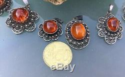 Konvolut Bernstein Anhänger, natural amber, baltic amber, Friesenschmuck