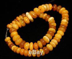 L Natural Genuine Butterscotch Egg Yolk Baltic Amber Necklace