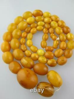Large Antique Natural Baltic Amber Necklace 83 grams