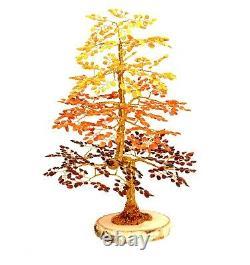 Luxury Amber Tree of Happiness OAK 40cm 1005 Baltic Amber Stones