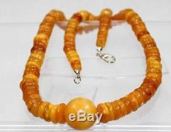 M Natural Genuine Butterscotch Egg Yolk Baltic Amber Necklace
