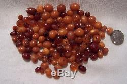 MIX Of Antique Natural Baltic Butterscoth / Egg Yolk / Cherry Amber Beads