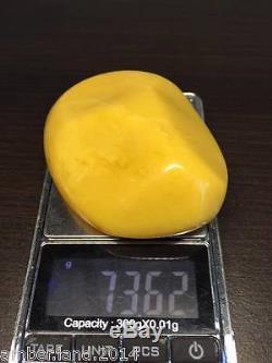 MUST LOOK! HUGE! UNIQUE! ANTIQUE NATURAL BALTIC AMBER NECKLACE PENDANT 73.62 gr