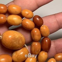Magnificent Natural Butterscotch Egg Yoke Amber Necklace 70 Grams
