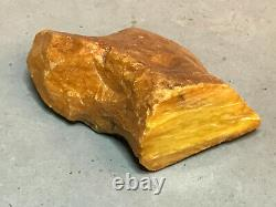 NATURAL OLD RAW ANTIQUE YELLOW BUTTERSCOTCH BALTIC AMBER STONE 60,8 gr
