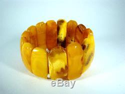 Natur Bernstein Armband real Baltic Butterscotch Egg Yolk Amber Bracelet 49 g