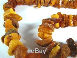 Natur baltischer Bernstein Kette Natural Baltic Amber Necklace 107g