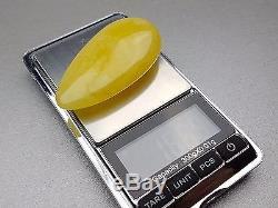 Natural Antique 16.89 gr. Butterscotch Egg Yolk Baltic Amber Pendant