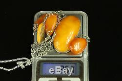 Natural Antique 25.7 gr. Butterscotch Egg Yolk Baltic Amber stone Pendant B119