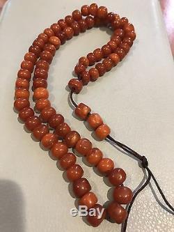 Natural Antique Baltic Butterscotch Amber Prayer Beads