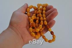 Natural Antique Baltic Vintage Amber, Amber Egg Yolk beads, 45 g