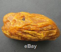 Natural Antique Genuine Butterscotch Egg Yolk Baltic Amber Stone 243g