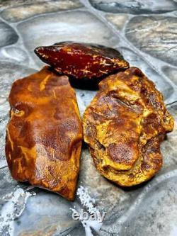 Natural Baltic AMBER Stone 437gr Bernstein kehribar kahraman genuine