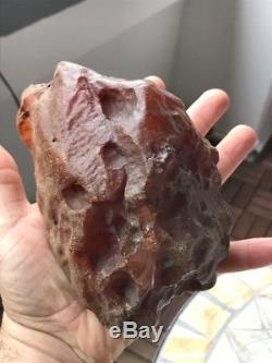 Natural Baltic AMBER Stone rough raw 571 gr Bernstein White YOLK BUTTERSCOTCH