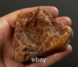 Natural Baltic AMBER Stone rough raw 60 gr Bernstein #444 EGG YOLK BUTTERSCOTCH