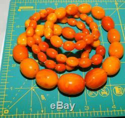 Natural Baltic Amber 67.4g Golden Egg Yolk Butterscotch 33,5 Long Necklace