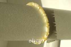 Natural Baltic Amber Bracelet 3,4 Grams White Color Rare Amber Wholesale