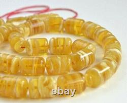 Natural Baltic Amber Honey Tesbih Rosary Tiger Islamic Misbaha Prayer Beads 84gr