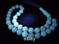Natural Baltic Amber Islamic 33 Beads Rosary Prayer Honey White Tasbih Misbaha