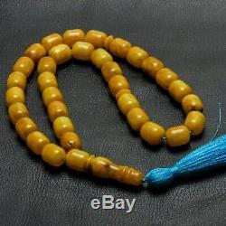 Natural Baltic Amber Islamic Muslim Prayer Beads Rosary Tesbih Misbaha