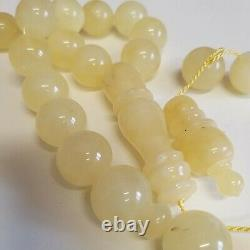 Natural Baltic Amber Islamic Prayer Beads Misbaha Tasbih Rosary 122g 33 Beads