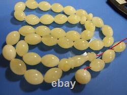 Natural Baltic Amber Islamic Prayer Beads Misbaha Tasbih Rosary 45g 33 Beads