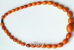 Natural Baltic Amber Necklace Beads Antique 29.54 gr