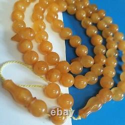 Natural Baltic Amber Prayer Beads Misbaha Tasbih Rosary 32g 66 Beads