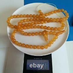 Natural Baltic Amber Prayer Beads Misbaha Tasbih Rosary 40g 99 Beads