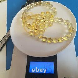 Natural Baltic Amber Prayer Beads Misbaha Tasbih Rosary 45g 45 Beads