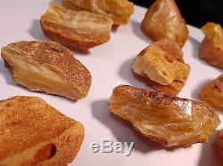 Natural Baltic Amber RAW 469 GRAMS 20-50G Butterscotch Honey