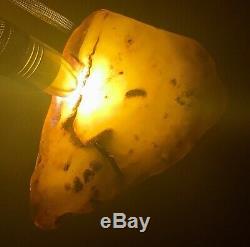 Natural Baltic Amber Raw Stone 220gr. Butterscotch Tiger Kahraman Bernstein