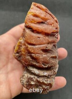 Natural Baltic Amber Raw Stone 230 g. Poland Tiger Style Yolk Kahrab Bernstein