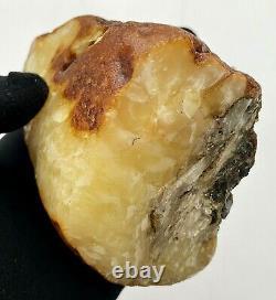 Natural Baltic Amber Raw Stone 301g. Poland Landscape Egg Yolk Kahrab Bernstein