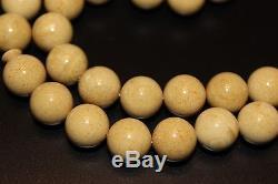 Natural Baltic Amber Rosary Islamic 33 Beads Prayer Honey White Tasbih Misbaha
