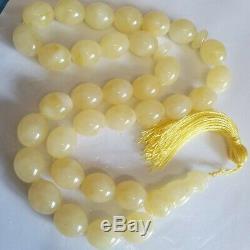 Natural Baltic Amber Rosary Islamic Prayer 33 Beads 98g